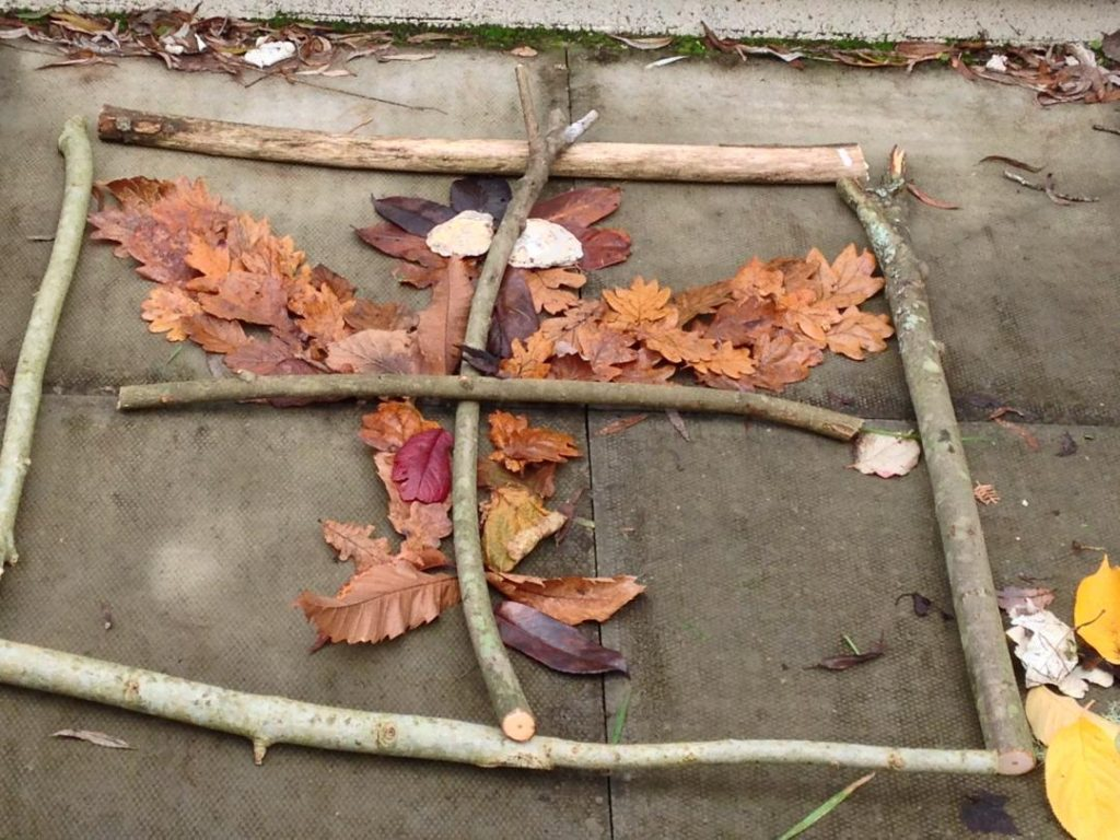 outdoor learning maths symmetry